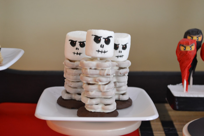 Skeleton Yogurt Pretzels