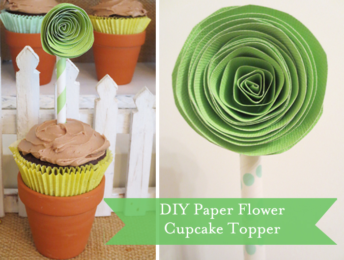 Cupcake Topper Spring Showers Guest Dessert Feature {& DIY Paper Flower Tutorial}