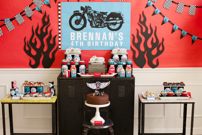 Parties For Boys Motorcycle Party Guest Dessert Feature