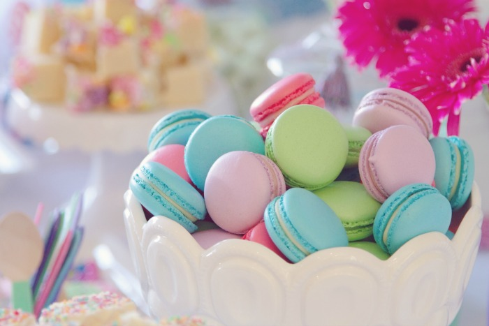 Pastel Macarons Colorful Guest Dessert Feature