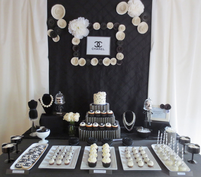 Coco Chanel Dessert Table Crazy About Coco Guest Dessert Feature