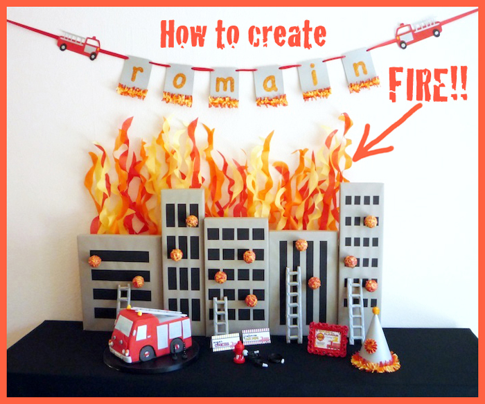 FIRE Tutorial1 Five Alarm Guest Dessert Feature {& Tissue Fire Backdrop Tutorial}