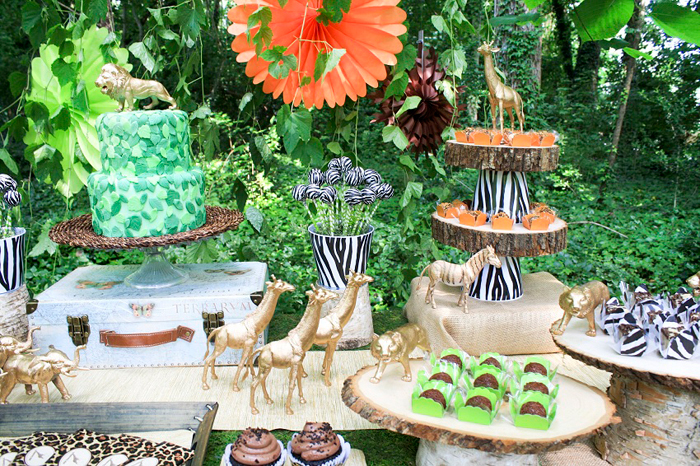 Safari Inspired Dessert Table Safari Party Guest Dessert Feature