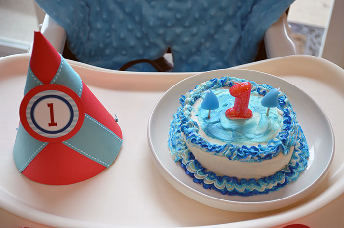 Birthday Cake Shark Party Guest Dessert Feature