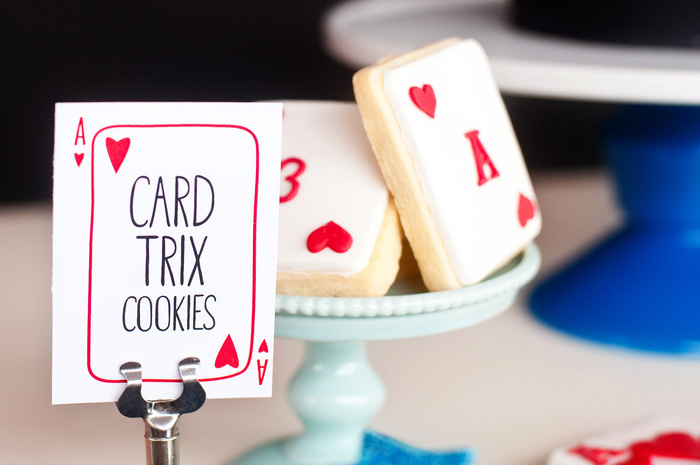 Playing Card Cookies Abracadabra Guest Dessert Feature