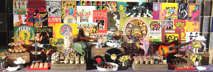 70s dessert table1 Classic Rock Guest Dessert Feature