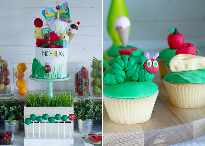 Hungry Caterpillar Party Cupcakes Very Hungry Caterpillar Guest Dessert Feature