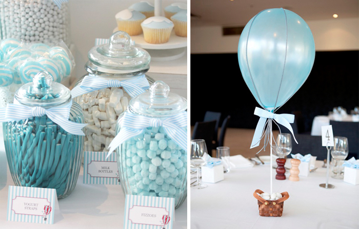 hot air balloon centerpiece Hot Air Balloon Guest Dessert Feature