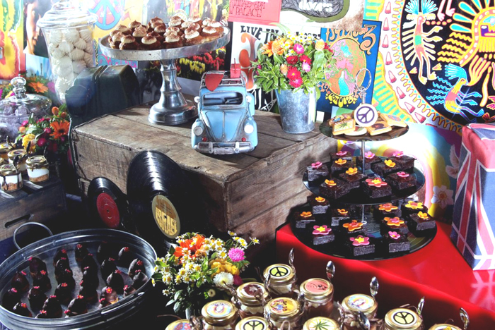 rock n roll dessert table Classic Rock Guest Dessert Feature