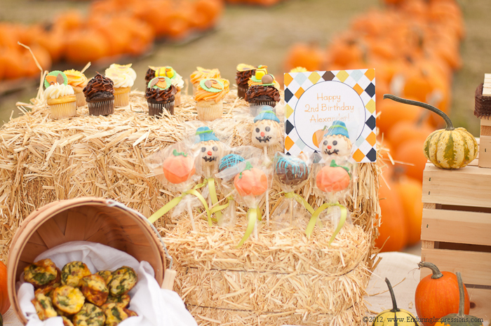 Fall inspired cake pops Little Pumpkin Guest Dessert Feature