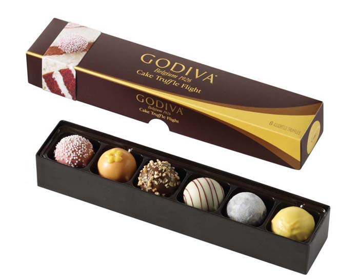 GODIVA cake truffle flights Great Finds: GODIVA Truffle Flights