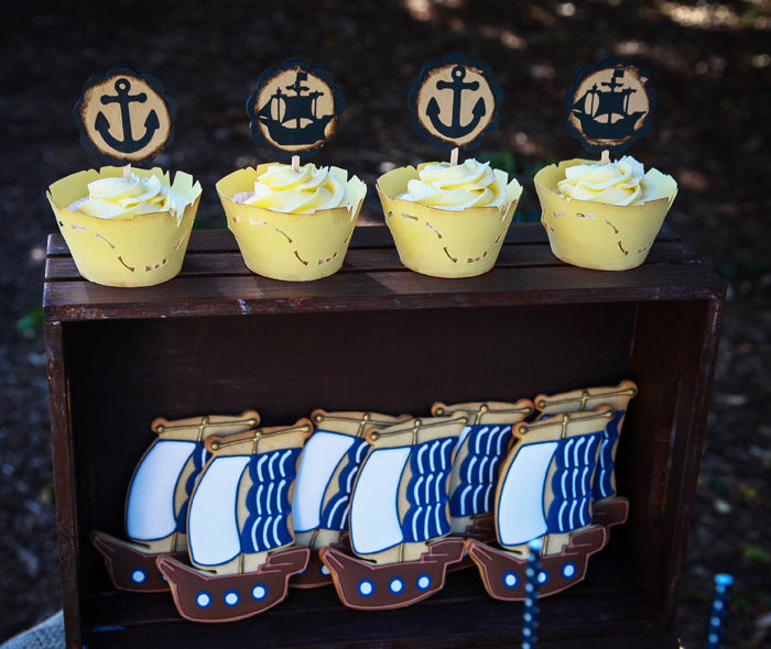Pirate Party for Kids | Pirate Ship sugar cookies