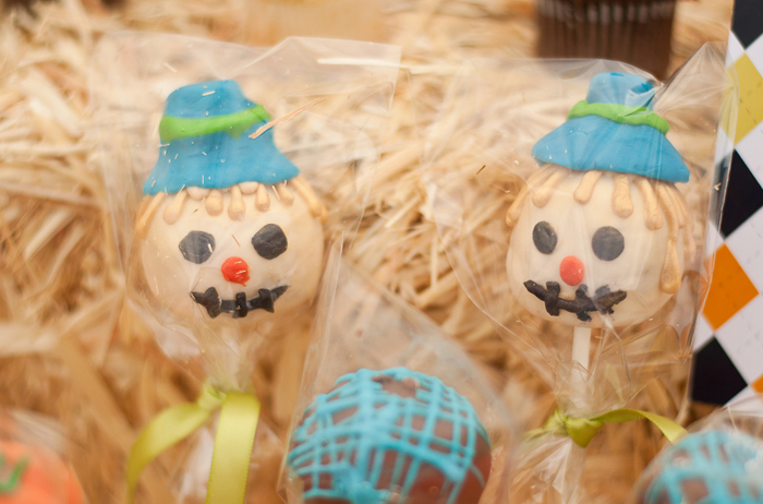 scarecrow cake pops Little Pumpkin Guest Dessert Feature