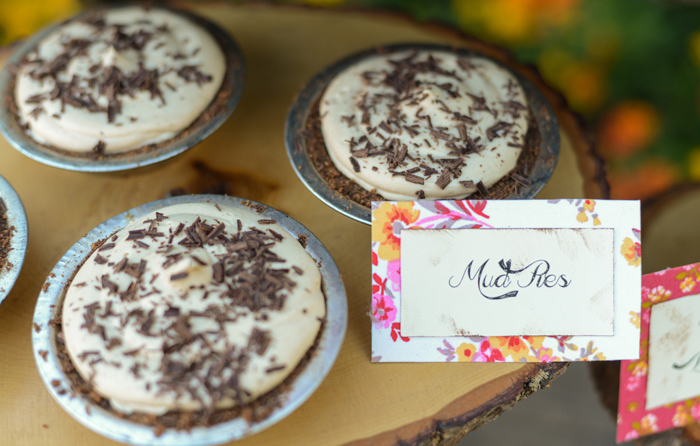 Baking Party Mud Pies Floral Baking Party Guest Dessert Feature