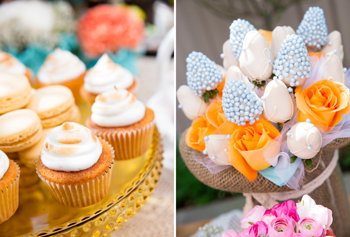 Cupcakes Beautiful Garden Baby Shower Guest Dessert Feature