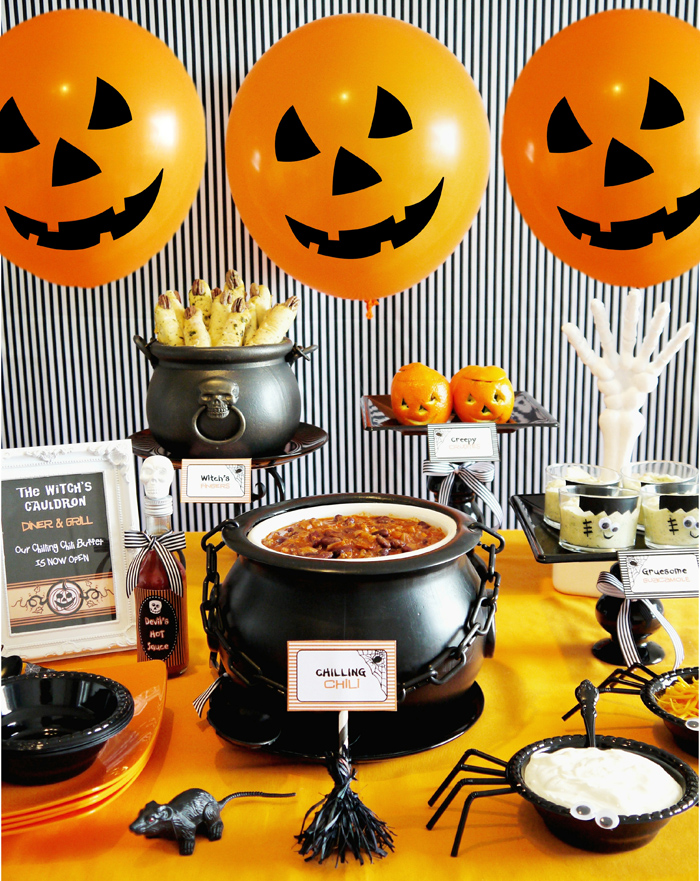 Halloween Chili Buffet Chilling Halloween Party