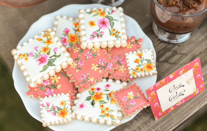 Sugar Cookies Floral Baking Party Guest Dessert Feature