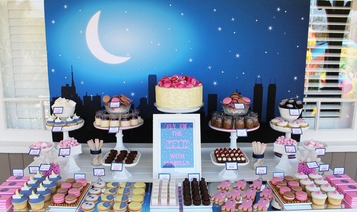 space-dessert-table