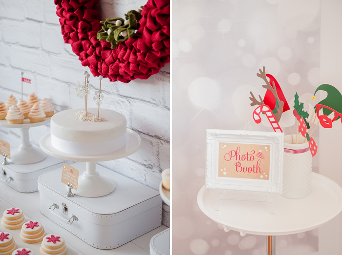 Red-and-white-dessert-table
