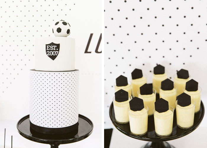 Soccer Inspired Cake Hexagon Soccer Guest Dessert Feature