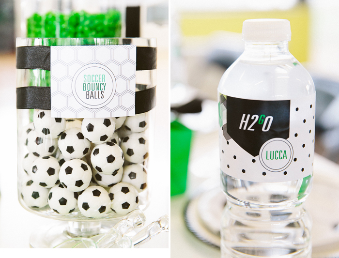 Soccer Party Printables Hexagon Soccer Guest Dessert Feature