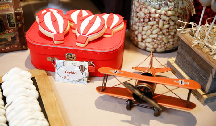 hot air balloon cookies Travel Guest Dessert Feature