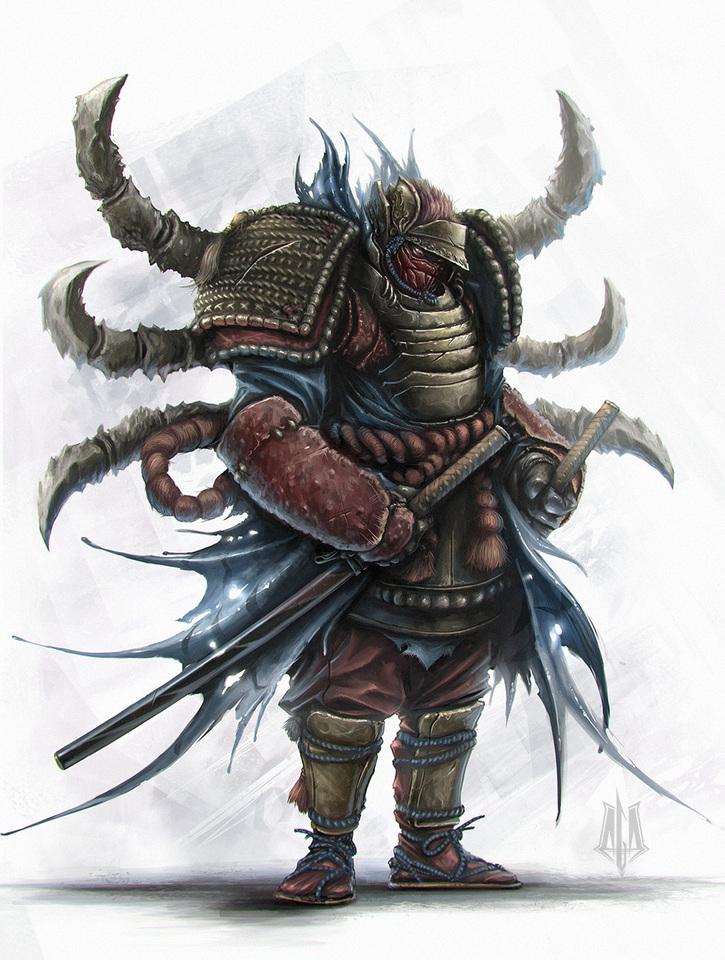 Crab-like Samurai