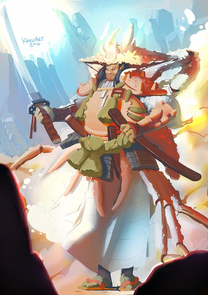 This Crab Samurai armor is recurring