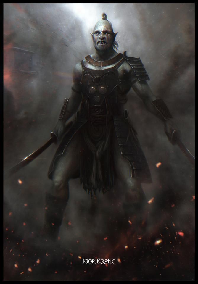 Orc Samurai by Igor Krstic