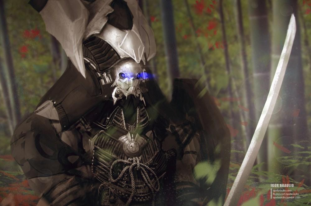 Cyborg Samurai by Igor Braulio