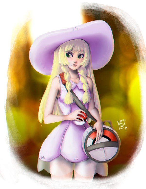 Comission: Pokemon Sun and Moon: Lillie by Bathiel