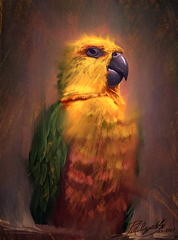 Bird Study by Pedro De Elizalde