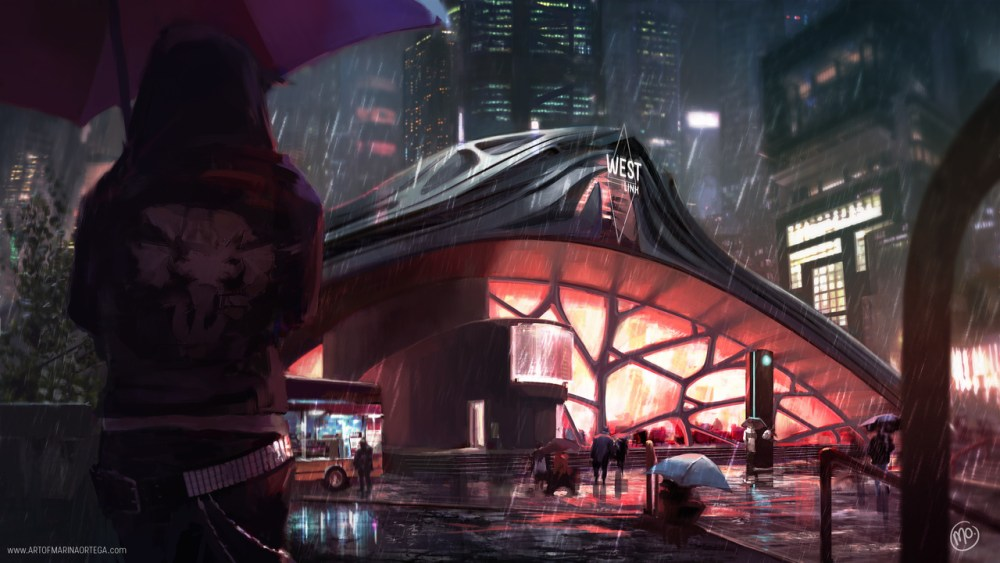 West Link Gate Cyberpunk Views by Marina Ortega