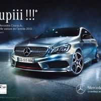 La Mercedes Classe A élue Plus belle voiture de l'année 2012