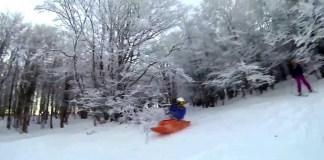 kayak neige