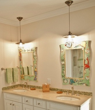 adds delicate touch to bathroom vanity blog barnlightelectriccom bathroom pendant lighting fixtures