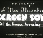 Fleischer Screen Songs Theatrical Cartoon Series