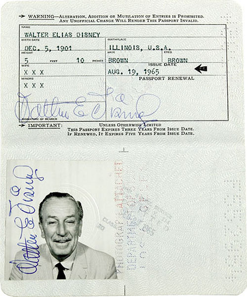 Walt-Disney-passport