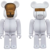 Daft Punk WHITE SUITS Ver 100% 2pc ベアブリック (BE@RBRICK) [発売]