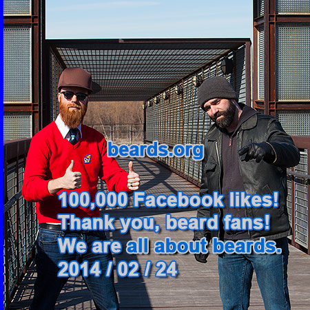 beards.org 100,000 Facebook likes!
