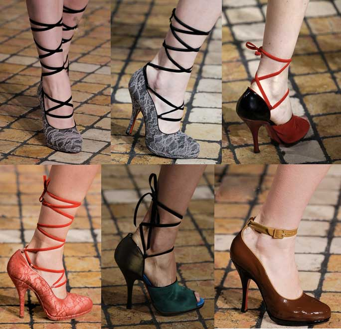 Louboutin-for-Jonathan-Saunders | London Fashion Week | Fall-Winter 2013-2014 | Shoes. Calzado