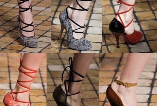 Louboutin-for-Jonathan-Saunders | London Fashion Week | Fall-Winter 2013-2014 | Shoes. Calzado