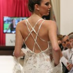 Sexy open multiple cross back. Detail. Collection Vintage by Jordi Dalmau