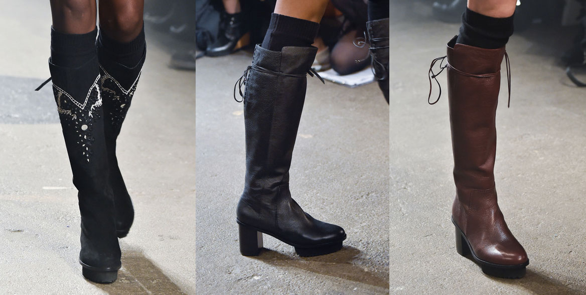 Tracy Reese Fashion Boots. New York Fashion Week. Fall-Winter 2015-2016 / Semana de la Moda de Nueva York. Otoño-Inverno 2015-2016.