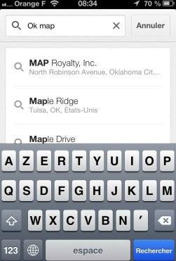 Saisir ok map