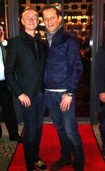 Henrik swept up the red carpet in the company of Swedish Director Måns Herngren.