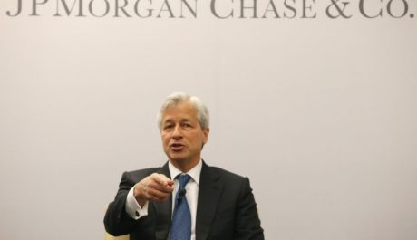 WASHINGTON, DC - APRIL 05:  Jamie Dimon, chairman and CEO of JPMorgan Chase & Co., participates in a discussion on Detroit's economic recovery on April 5, 2016 in Washington, DC. JPMorgan Chase announced they will make a five-year, $125 million commitment to Detroit's economic recovery.  (Photo by Mark Wilson/Getty Images)