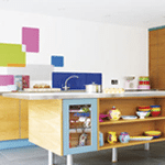 Kitchen New blinds :: Brightly coloured funky roller blinds