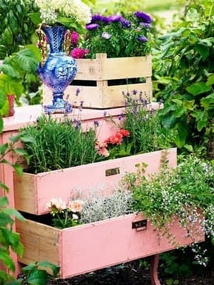 drawer garden summer design idea