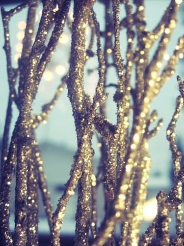 glitter branches
